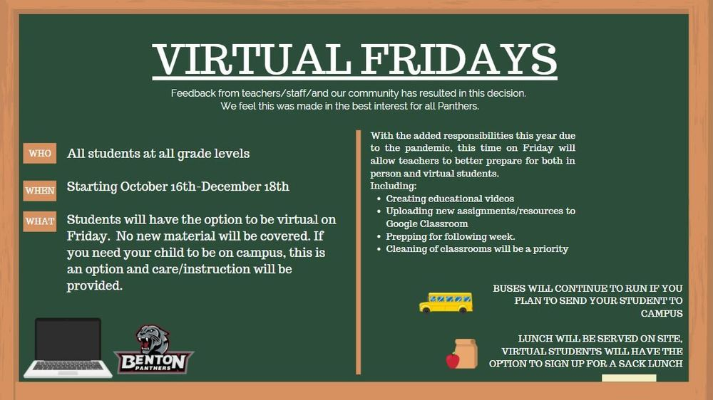 Virtual Friday Information