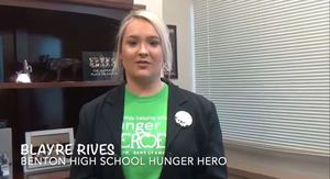 BHS Student in AR Foodbank Challange