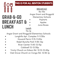 Grab-&-Go Breakfast and Lunch for ALL Students
