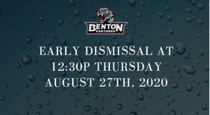 Early Dismissal Thursday August 27th